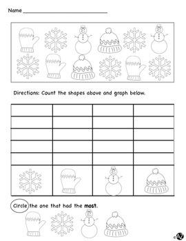 Winter Math Graphing Fun