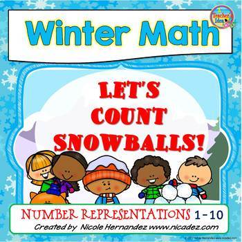 Counting Snowballs (Colored & Black Versions for Notebooks)