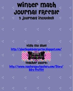 Winter Math Journal FREEBIE