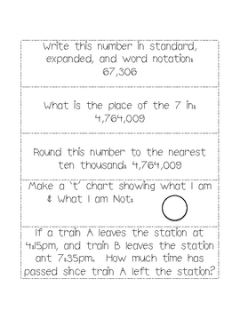Winter Math Journal Prompts, Grades 3-5: Vol. 1