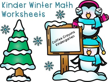 FREEBIE Kinder Math - Winter Theme