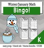 Winter Math Kindergarten BINGO Game Bundle