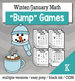 Winter Math Kindergarten Bump Games Bundle
