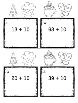 Winter Math Kindergarten Scavenger Hunt Game Bundle