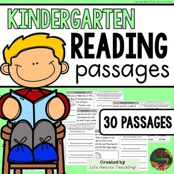 Reading Comprehension: Kindergarten Reading Passages with Questions