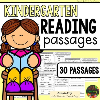 Reading Passages: Kindergarten Reading Comprehension Passages and Questions