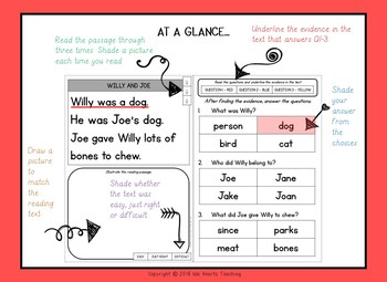 Kindergarten Reading Passages with Comprehension Questions