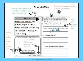 Reading Comprehension: Kindergarten Reading Comprehension Passages and Questions