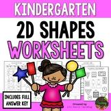 Kindergarten 2D Shapes Worksheets (Kindergarten Math Series)