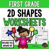 First Grade 2D Shapes Worksheets (First Grade Math Series)