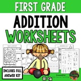 First Grade Addition Worksheets (First Grade Math Series)