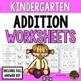 Kindergarten Addition Worksheets (Kindergarten Math Series)