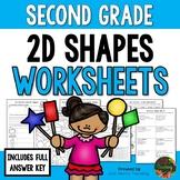 Second Grade 2D Shapes Worksheets (Second Grade Math Series)