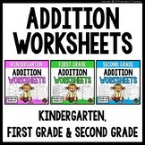 Addition (Kindergarten, 1st Grade, 2nd Grade) Differentiated Math Worksheets