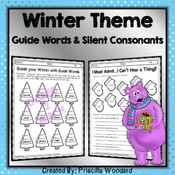 Winter Math & Language Review 3rd Grade Worksheets Bundle