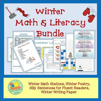 Winter Activities Math and Literacy Bundle