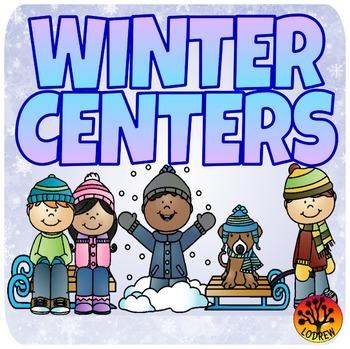 Winter Centers Activities Math Literacy Emergent Reader Beginning Sound Counting
