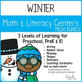 Winter Math & Literacy Mega-Bundle for Preschool, PreK & K!