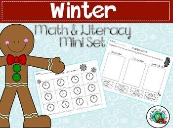 Winter Math & Literacy Mini Packet