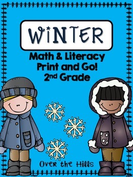 Winter Math & Literacy Print and Go {2nd Grade CCSS}