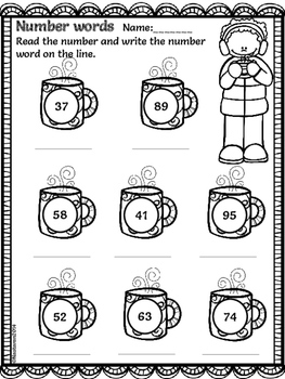 Winter Math and Literacy Printables Print and Go (First Grade)