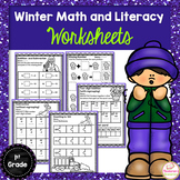 Winter Worksheets :Math and Literacy Worksheets