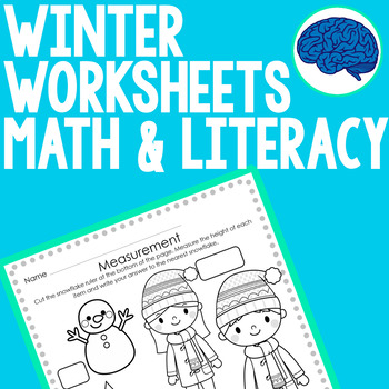 Winter Math & Literacy Worksheets Grade 1 Common Core Aligned