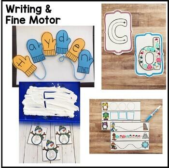 Winter Math, Literacy, and Writing Pack for Preschool, PreK, and Kindergarten