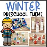 Winter Preschool / PreK Math and Literacy Centers