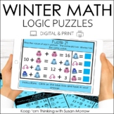 Winter Math Logic Puzzles Digital and Print