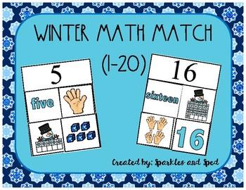 Winter Math Match