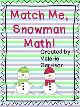 Winter Math Match Me Snowman Math Mats