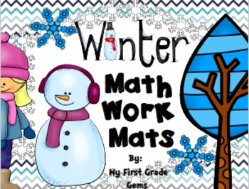 Winter Math Work Mats