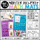 Winter Math Mats - No Prep, Kindergarten Skills