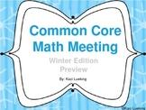 Winter Common Core Math Meetings