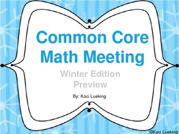 Winter Common Core Math Meetings