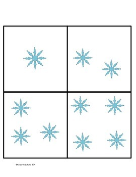 Winter Math Memory Game