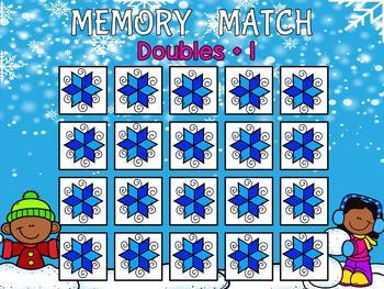 Winter Math Memory Game (Promethean Flipchart)