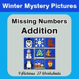 Winter Math: Missing Numbers Addition - Color-By-Number My