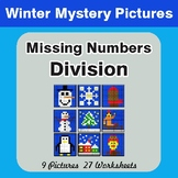 Winter Math: Missing Numbers Division - Color-By-Number My
