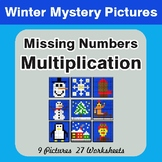 Winter Math: Missing Numbers Multiplication - Color-By-Num