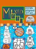 Winter Math Mix CCSS Aligned Activities for 3rd and 4th Grade
