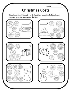 Winter Math Money Christmas Math Christmas Activities Math Activities Money