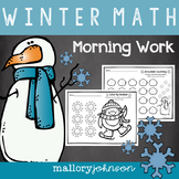 Winter Math Morning Work