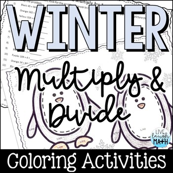 Winter Math: Multiplication & Division Color by Number