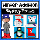 Winter Math Mystery Pictures- Addition