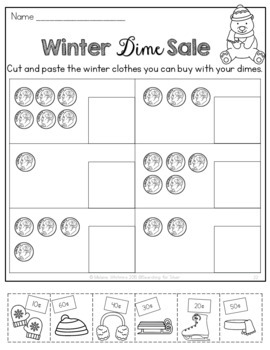 Winter Math and Literacy No-Prep {First Grade}