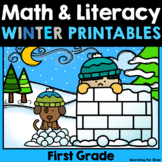 Winter Math & Literacy Printables {1st Grade}