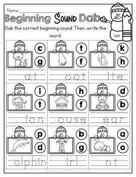 Winter Math and Literacy No-Prep {Kindergarten}