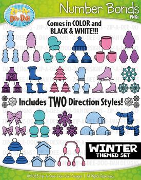 Winter Math Number Bonds Clipart {Zip-A-Dee-Doo-Dah Designs}